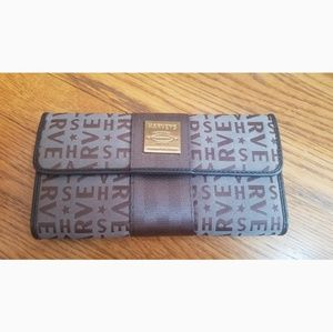 EUC Harveys Monogram Clutch wallet